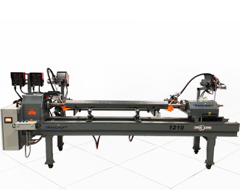 semi automated weld lathe machine