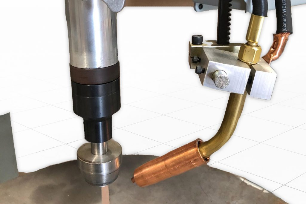 GMAW welding nozzle automated welder